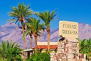 Sign at Furnace Creek Inn, Death Valley National Park. California