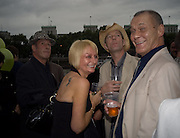 DINO RAFFERTY; TRISHA TUGWELL; DISCO STU; JIM LAIDLAW To celebrate the launch of  Crime,  by Irvine Welsh. Party on boat ' The  Golden Flame. Thames. 17 July 2008 *** Local Caption *** -DO NOT ARCHIVE-© Copyright Photograph by Dafydd Jones. 248 Clapham Rd. London SW9 0PZ. Tel 0207 820 0771. www.dafjones.com.