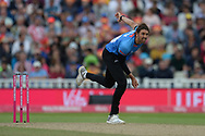 David Wiese of Sussex Bowling during the Vitality T20 Finals Day semi final 2018 match between Sussex Sharks and Somerset County Cricket Club at Edgbaston, Birmingham, United Kingdom on 15 September 2018.