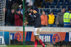 Falkirk's Lyle Taylor at the end..Falkirk 4 v 1 Forfar Athletic, Scottish Cup fifth round tie, 2/2/2013. .©Michael Schofield.