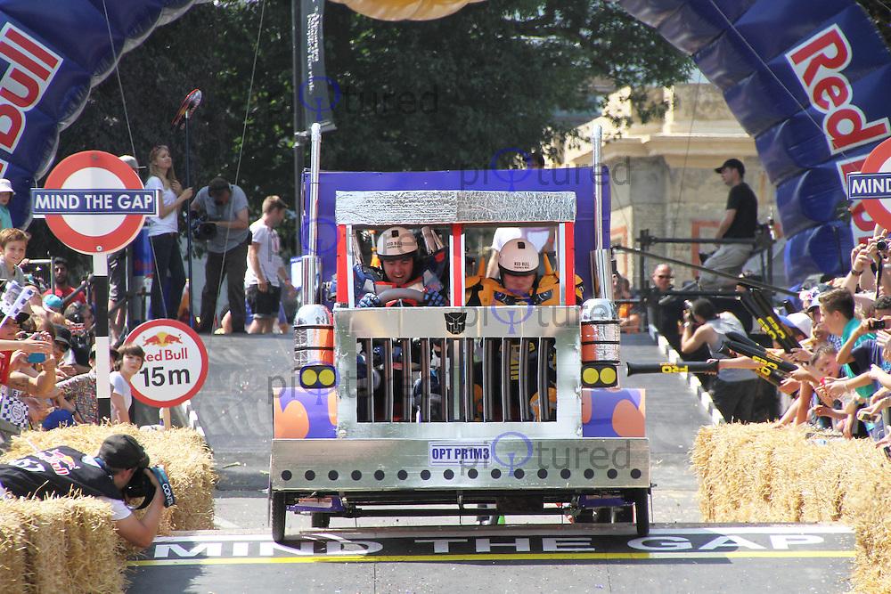 The Autobots, Red Bull Soapbox Race, Alexandra Palace, London UK, 14 July 2013, (Photoby Richard Goldschmidt)