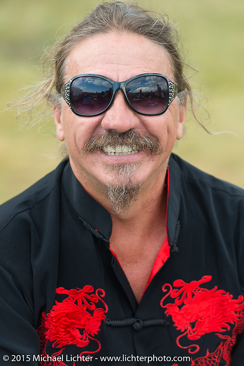 Bean're at Heather and Chris Callen's Wedding at the Broken Spoke Camground during the 75th Annual Sturgis Black Hills Motorcycle Rally.  SD, USA.  August 8, 2015.  Photography ©2015 Michael Lichter.