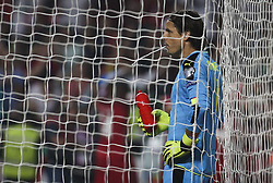 October 10, 2017 - Lisbon, Portugal - Switzerland's goalkeeper Yann Sommer reacts after Portugals goal during the FIFA 2018 World Cup Qualifier match between Portugal and Switzerland at the Luz Stadium on October 10, 2017 in Lisbon, Portugal. (Credit Image: © Carlos Costa/NurPhoto via ZUMA Press)