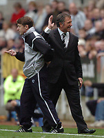 Credit: Back Page Images / Matthew Impey. Newcastle United v Fulham, FA Premiership, 7/11/2004. Newcastle Manager Graeme Souness after a penalty appeal is turned down