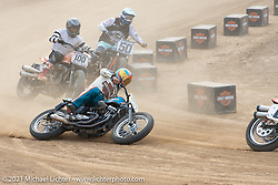 Hooligan racer Ethan White on the Fist City Flat Track at the Tennessee Motorcycles and Music Revival at Loretta Lynn's Ranch. Hurricane Mills, TN, USA. Saturday, May 22, 2021. Photography ©2021 Michael Lichter.