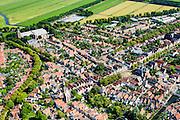 Nederland, Noord-Holland, Edam, 05-08-2014; centrum Edam metGrote Kerk in de achtergrond.<br /> Historical village Edam.<br /> luchtfoto (toeslag op standard tarieven);<br /> aerial photo (additional fee required);<br /> copyright foto/photo Siebe Swart