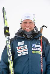 Klemen Bauer of Slovenian Men Biathlon Team at Dachstein glacier before new season 2008/2009, Austria, on October 30, 2008.  (Photo by Vid Ponikvar / Sportida)