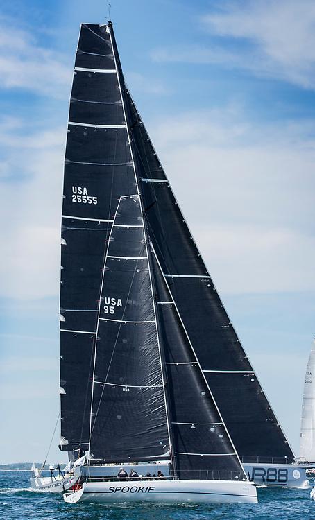 RAMBLER, Sail Number: USA 25555, Owner/Skipper: George David, Class: IRC 1, Yacht Type: JYD 88, Homeport: Farmington, CT, USA<br /> SPOOKIE, Sail Number: USA 95, Owner/Skipper: Steve & Heidi Benjamin, Class: IRC 2, Yacht Type: Carkeek HP 40, Homeport: Norwalk, CT, USA