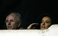 Photo: Chris Ratcliffe.<br />Arsenal v West Ham. Barclays Premiership. 01/02/2006.<br />England manager Sven Goran Eriksson (L) and wife Nancy Del Olio watch from the stands.