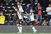 Derby County defender Scott Malone celebrates scoring the opening goal during the EFL Sky Bet Championship match between Derby County and Cardiff City at the Pride Park, Derby, England on 13 September 2019.