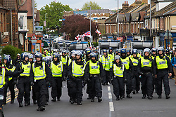 English Defence League marches through Walthamstow