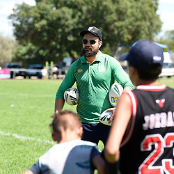 BRISBANE, AUSTRALIA - MARCH 18: An NRL Development Officer gives instructions during the NRL Development Junior Clinic and QRL training session at Ron Stark Oval on March 18, 2017 in Brisbane, Australia. (Photo by Patrick Kearney/Wynnum Manly Seagulls)