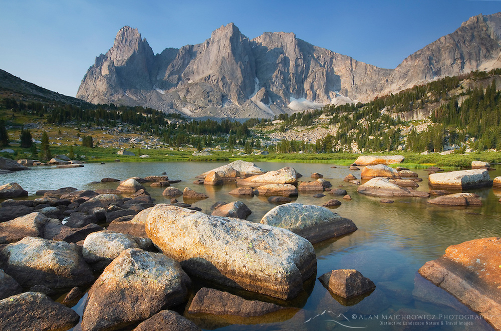 Cirque of the Towers from Lonesome Lake, Popo Agie Wilderness, Wind River Range Wyoming