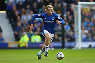 Tom Davies of Everton in action. Premier league match, Everton vs Bournemouth at Goodison Park in Liverpool, Merseyside on Saturday 23rd September 2017.<br /> pic by Chris Stading, Andrew Orchard sports photography.