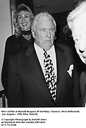 Merv Griffin at Ronald Reagan's 85 birthday. Chasen's, West Hollywood. Los Angeles. 1996. Film. 9642/20<br /><br />© Copyright Photograph by Dafydd Jones<br />66 Stockwell Park Rd. London SW9 0DA<br />0171 733 0108