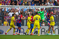 Football - 2021/2022  Premier League - Crystal Palace vs Brentford - Selhurst Park  - Saturday 21st August 2021.<br /> <br /> in fine form David Raya (Brentford FC) collects the high ball at Selhurst Park.<br /> <br /> COLORSPORT/DANIEL BEARHAM