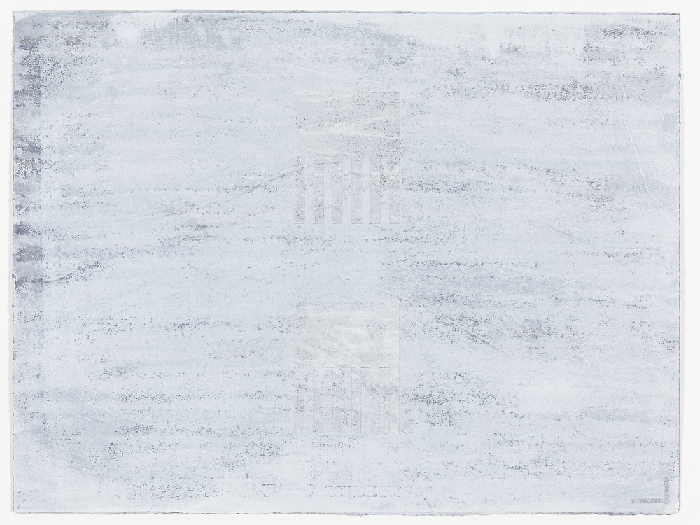 Indian ink and acrylic on paper by Peter Abrahams, 56 x 76 cm