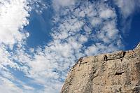 Utendørs fjellklatring på Selnes på Fosenhalvøya, rock climbing