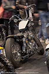 Kris Kustom Cycles custom 1982 Harley-Davidson Shovelhead in the Low Ride custom bike show during the Motor Bike Expo. Verona, Italy. Sunday January 22, 2017. Photography ©2017 Michael Lichter.