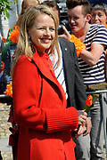 Koninginnedag 2011 in het  Limburgse plaatsjeThorn (witte dorp) // Queen's Day 2011 in the southern of Holland ( Limburg). The Royal family is visiting the small white village Thorn.<br /> <br /> Op de foto / On the photo:  Prinses Mabel