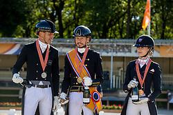 Podium Seniors, Gal Edward, Minderhoud Hans Peter, Van Liere Dinja<br /> Nederlands Kampioenschap<br /> Ermelo 2021<br /> © Hippo Foto - Dirk Caremans<br />  06/06/2021