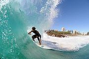April 23, 2010:  surfs at Snapper Rocks, Coolangatta, Gold Coast, Queensland on 23 April, 2010. Photo by Matt Roberts