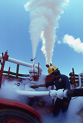 Stock photo of CO2 fracking in an East Texas oil field