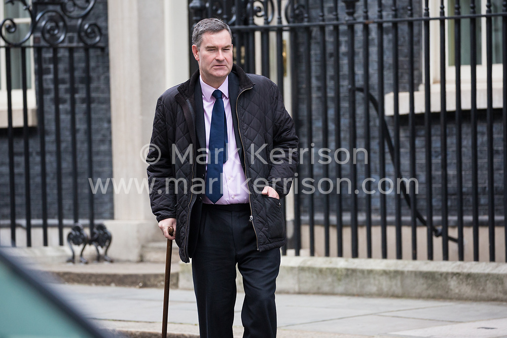 London, UK. 29th January, 2019. David Gauke MP, Lord Chancellor and Secretary of State for Justice, leaves 10 Downing Street following a Cabinet meeting on the day of votes in the House of Commons on amendments to Prime Minister Theresa May's final Brexit withdrawal agreement which could determine the content of the next stage of negotiations with the European Union.