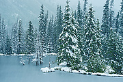 Early (freak) snow storm in the Northern Rocky Mountains<br />Stone Mountan Provincial Park<br />British Columbia<br />Canada