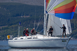 Day 3 Scottish Series, SAILING, Scotland.<br /> <br /> Class 6, Lemerac, Moody 38, 4040C<br /> <br /> The Scottish Series, hosted by the Clyde Cruising Club is an annual series of races for sailing yachts held each spring. Normally held in Loch Fyne the event moved to three Clyde locations due to current restrictions. <br /> <br /> Light winds did not deter the racing taking place at East Patch, Inverkip and off Largs over the bank holiday weekend 28-30 May. <br /> <br /> Image Credit : Marc Turner / CCC