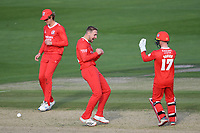 Cricket - 2020 T20 Vitality Blast - Quarter-final - Sussex Sharks vs Lancashire Lightning - County Ground, Hove<br /> <br /> Alex Davies of Lancashire Lightning (17) celebrates with Liam Livingstone.<br /> <br /> COLORSPORT/ASHLEY WESTERN