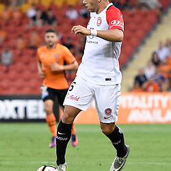 BRISBANE, AUSTRALIA - JANUARY 28: Jaushua Sotirio of the Wanderers dribbles the ball during the round 17 Hyundai A-League match between the Brisbane Roar and Western Sydney Wanderers at Suncorp Stadium on January 28, 2017 in Brisbane, Australia. (Photo by Patrick Kearney/Brisbane Roar)
