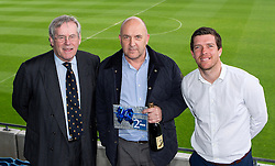 Bristol Rovers Manager Darrell Clarke and Chairman Steve Hamer with the winner of the second prize at the Sponsors Draw - Mandatory by-line: Robbie Stephenson/JMP - 15/04/2016 - FOOTBALL - The Memorial Ground - Bristol, England -  v  - Bristol Rovers Sponsor Draw