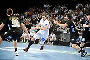 DESCRIZIONE : France Hand D1 Championnat de France D1 a Montpellier<br /> GIOCATORE : William ACCAMBRAY<br /> SQUADRA : Montpellier<br /> EVENTO :  Hand D1<br /> GARA : Montpellier Dunkerque<br /> DATA : 25/10/2012<br /> CATEGORIA : Hand D1 <br /> SPORT : Handball<br /> AUTORE : JF Molliere <br /> Galleria : France Hand 2012-2013 Action