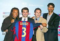 Fotball<br /> Spania 2003/2004<br /> Foto: Digitalsport<br /> Norway Only<br /> <br /> Edgar Davids - Barcelona<br /> Joan Laporta - Beguiristain - Frank Rijkaard
