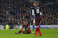 Football - 2018 / 2019 Premier League - Brighton and Hove Albion vs. Arsenal<br /> <br /> Pierre-Emerick Aubameyang and Aaron Ramsey of Arsenal show there frustration after another chance at The Amex Stadium Brighton <br /> <br /> COLORSPORT/SHAUN BOGGUST