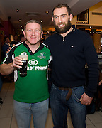 Eugene Hession, Corofin with Connacht Captain John Muldoon at the Guinness Area22 event in the Carlton Hotel Galway