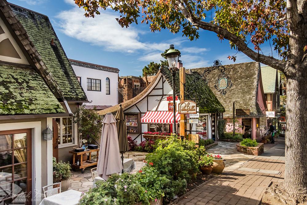 Carmel-by-the-Sea, street scene, Ocean Avenue, California