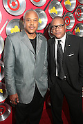 September 18, 2012- Harlem, New York: (L-R) Bernard Bronner, Publisher, Upscale Magazine and Greg Cunningham, Senior Group Manager, Strategic Partnerships & Lifestyles Marketing, Target attend Sylvia's Restaurant 50th Anniversary Golden Jubliee Gala celebrating the life and legacy of the late Sylvia Woods and held at Slyvia's Restaurant on September 18, 2012 in the Village of Harlem, USA. (Terrence Jennings)