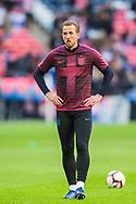 Harry Kane (Capt) (England) dwarming up ahead of the UEFA Nations League match between England and Croatia at Wembley Stadium, London, England on 18 November 2018.