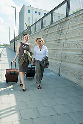 two female business partners on travel