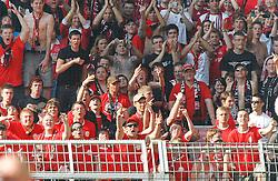 30.04.2011, Signal Iduna Park, Dortmund, GER, 1.FBL,  Borussia Dortmund vs 1. FC Nuernberg, im Bild enttäuscht und wütende Nürnberger Fans nach der Niederlage ihrer Mannschaft, EXPA Pictures © 2011, PhotoCredit: EXPA/ nph/  Scholz       ****** out of GER / SWE / CRO  / BEL ******