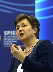 June 1, 2017 - Saint Petersburg, Russia - June 1, 2017. - Russia, Saint Petersburg. - St. Petersburg International Economic Forum (SPIEF) 2017. Panel Session 'Macroeconomic Policy: From Stabilization To Growth'. In picture: Kristalina Georgieva, Chief Executive Officer, World Bank Group. (Credit Image: © Russian Look via ZUMA Wire)