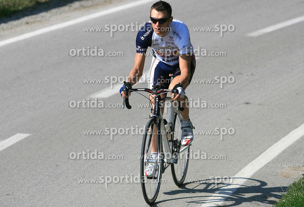 Professional Slovenian rider Grega Bole of Amica Chips cycling club at practice, on April 6, 2009, in Ljubljana, Slovenia.  (Photo by Vid Ponikvar / Sportida)