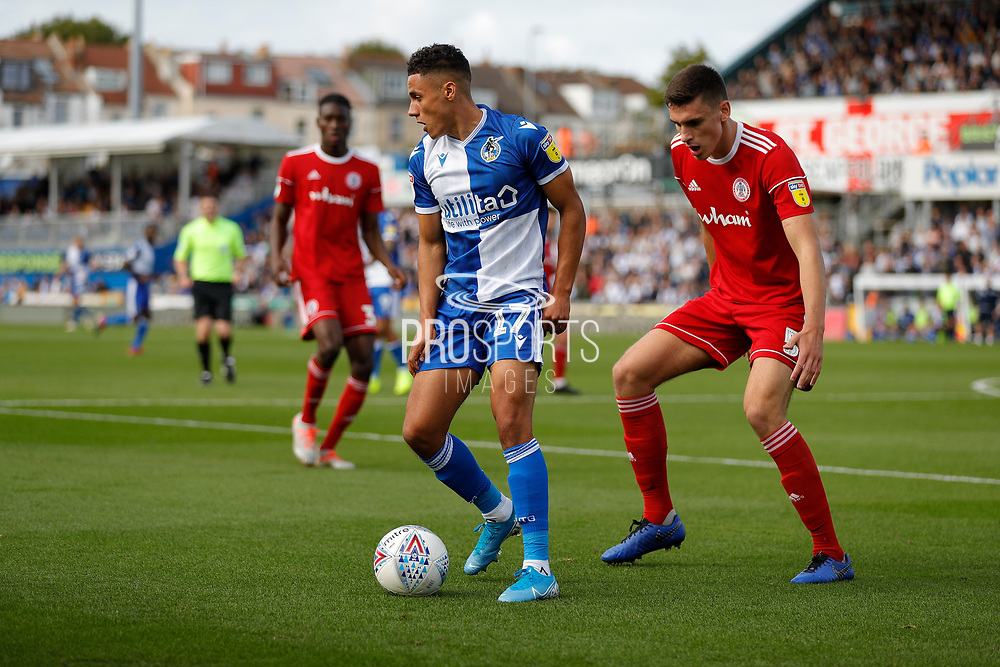 Bristol Rovers forward Tyler Smith during the EFL Sky Bet League 1 match between Bristol Rovers and Accrington Stanley at the Memorial Stadium, Bristol, England on 7 September 2019.