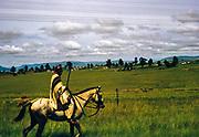 Caption says Bantu horseman, presumably South Africa, 1960s