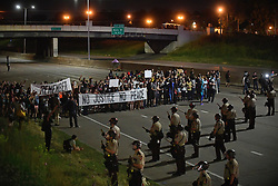 June 16, 2017 - St. Paul, MN, USA - Supporters of Philando Castile block I-94 at Dale Avenue in St. Paul, Minn., after leaving a vigil at the State Capitol on Friday, June 16, 2017. (Credit Image: © Aaron Lavinsky/TNS via ZUMA Wire)