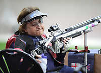 Paralympics London 2012 - ParalympicsGB - Shooting Womens R2-10m Air Rifle Standing - SH1 Heats 30th August 2012<br />   <br /> Deanna Coates competing in the Womens R2-10m Air Rifle Standing - SH1 Heats at the Paralympic Games in London. Photo: Richard Washbrooke/ParalympicsGB