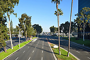 Bristol Street In Costa Mesa Seen From Unity Bridge