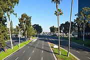 Bristol Street In Costa Mesa Seen From Unity Bridge
